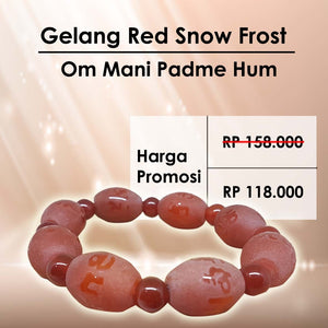 Gelang Red Snow Frost Om Mani Padme Hum (RBN04)