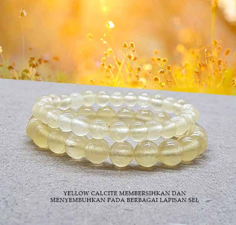 Gelang Yellow Calcite Stone (GBP146)