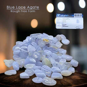 Batu Blue Lace Agate Rough Free Form Stone Premium (BC10)