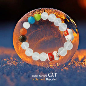 Gelang Lucky Fortune Cat 5 Unsur FengShui (GLU01)