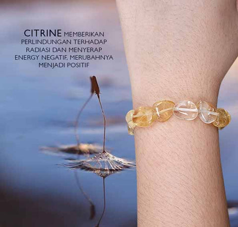 Gelang Citrine Gravel Form Crystal Healing Stone (GBP228)