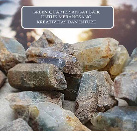 Batu Green Quartz Stone of Heart Premium (BC06)