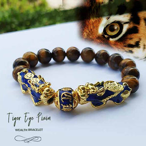 Gelang Tiger Eye Double Pi Xiu (Berubah Warna) (GLZ01)