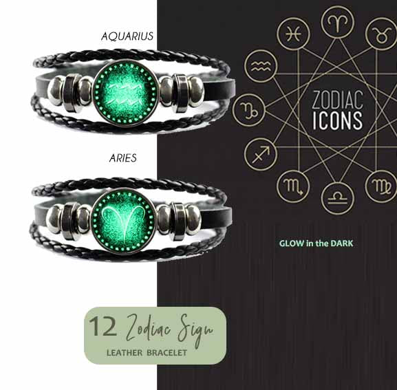 Gelang 12 Zodiac Sign (Glow In The Dark) (FA04)