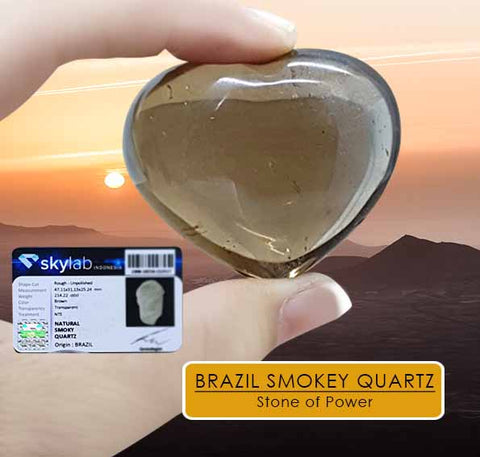 Stone of Power Brazil Smokey Quartz Stone Premium (BC03)
