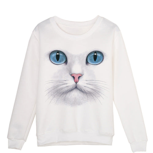 3D Cat Face Sweatshirt