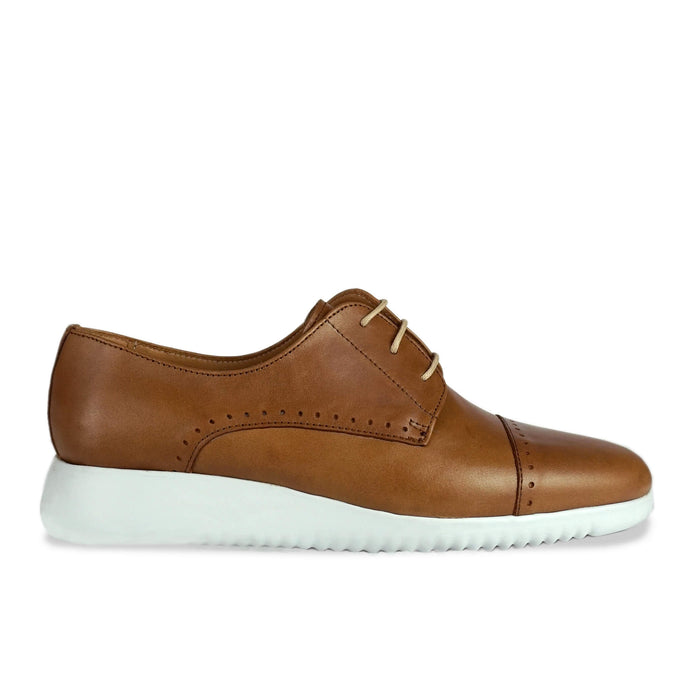 Kimbo Tan Leather Brogue Side