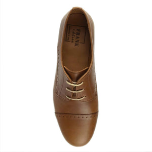 Kimbo Tan Leather Brogue Top