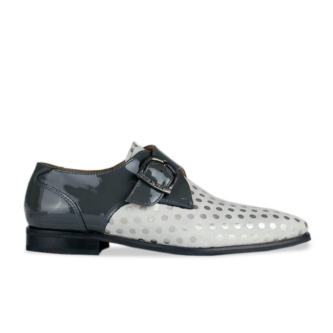 Miller Polka Dot Suede Monk Side