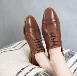Dorian: Leather Oxford modelled
