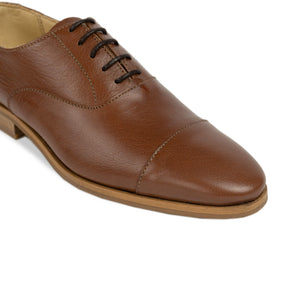 FRANK+Alice Dorian Leather Oxford Chestnut Tan Toe
