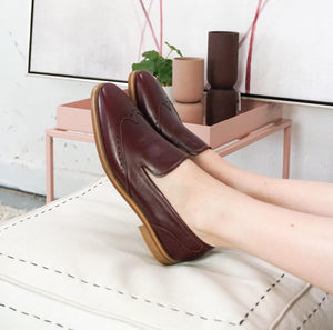 Eden: Leather Loafer modelled