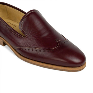 FRANK+Alice Eden Leather Loafer Burgundy Toe