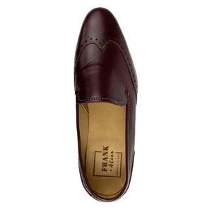 FRANK+Alice Eden Leather Loafer Burgundy Top