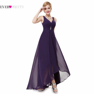 Formal Evening Dresses EP09983 Ever Pretty 2017 New Arrival Real Photo Plus Size Double V Neck Rhinestones Long Evening Dress