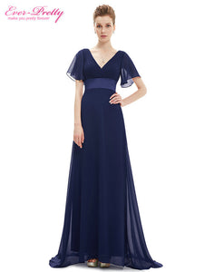 Evening Dresses EP09890 Padded Trailing Flutter Sleeve Long Women Gown 2017 New Chiffon Summer Style Special Occasion Dresses