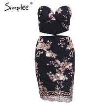 Simplee Sequined mesh cropped sexy dress women Christmas evening party sleeveless dress 2017 Autumn short dress mini vestidos
