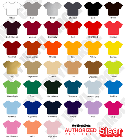 "Ultimate HTV Starter Pack (44 Colors) 12"" x 15"" Sheets Siser EasyWeed Heat Transfer Vinyl HTV"