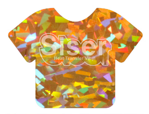 Gold Crystal Holographic Deco Sparkle Heat Transfer Vinyl