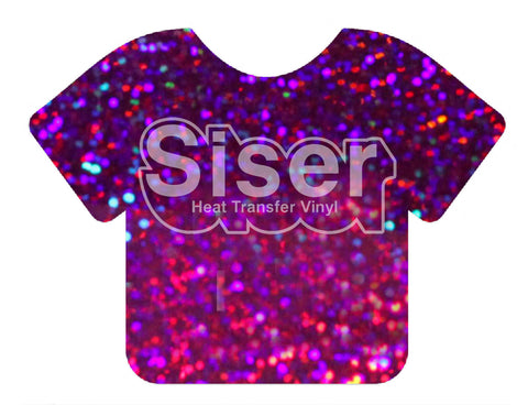 Purple Holographic Deco Sparkle Heat Transfer Vinyl