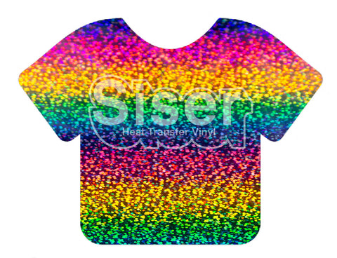 Rainbow Holographic Deco Sparkle Heat Transfer Vinyl