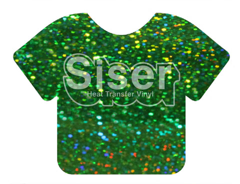 Green Holographic Deco Sparkle Heat Transfer Vinyl
