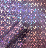 "12"" x 12"" Chrome Crystal Fragment Holographic Permanent Adhesive Vinyl"