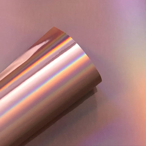 Rainbow Chrome Pink Holographic - Decorative Adhesive Vinyl