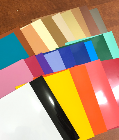 "6"" x 7.5"" Starter Pack Color Sample Sheets 700A Series Matte HTV 25 colors"