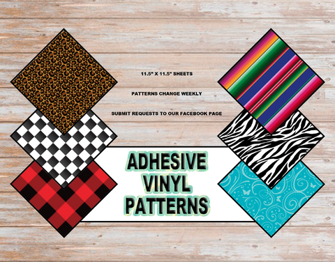 "Oracal 651 Adhesive Vinyl Printed Patterns - 11.5"" x 11.5"" Sheets"