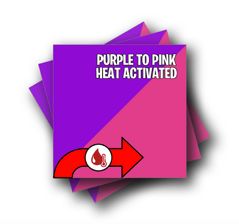 "Hot Purple to Pink Color Changing Vinyl 12""x12"" Sheet"
