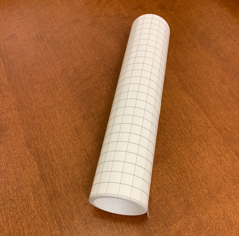Adhesive Vinyl Transfer Tape with Grid - High Tack