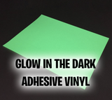 "Glow in the Dark Adhesive Vinyl 12""x12"""
