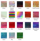 "BOGO SALE Holographic Deco Sparkle Heat Transfer Vinyl 12""x10"""
