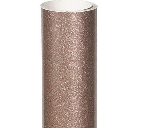 "12"" x 12"" StyleTech 2000 Ultra Glitter White 149 and Rosy Gold 168 - Permanent Adhesive Vinyl"