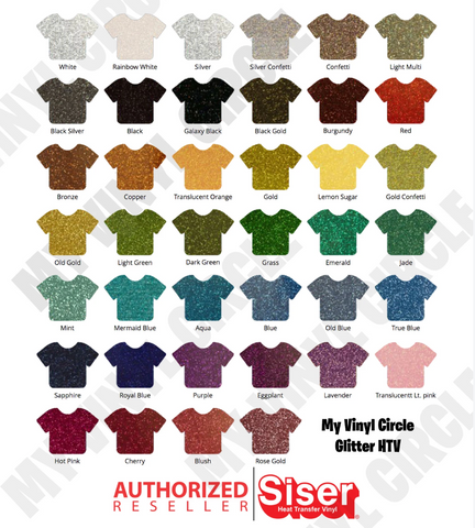 Ultimate Glitter HTV Starter Pack (53 colors) - Siser Glitter Heat Transfer Vinyl