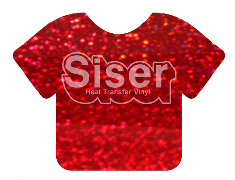 Red Holographic Deco Sparkle Heat Transfer Vinyl