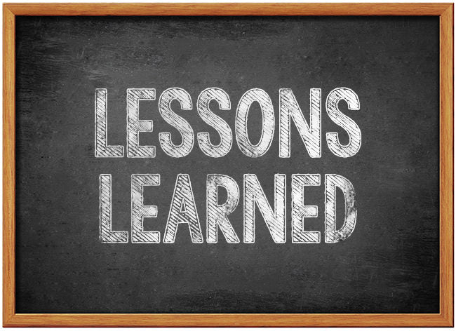Lessons Learned: 5 Lessons Learned This Week 16th February 2019