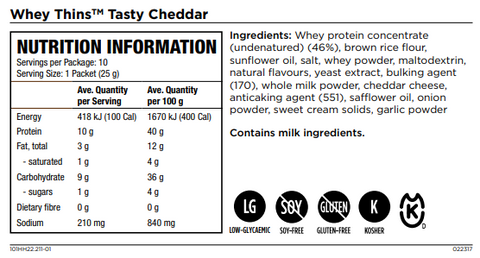 Isagenix Whey Thins Tasty Cheddar