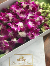 Ciel de Pourpre_ Purple_orchids_box des fleurs_baby shower_its a girl_ gifts foe her_baby girl_ mothers day_mother's day_ gift_ flowers_ vancouver_canada_easter flowers_ anniversary
