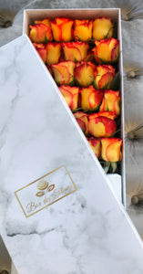 Mango-Magic-Orange Harmonie-box-des-fleurs-rose-marble-vancouver-flower-deliver-saint patrick day