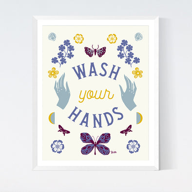 Wash Your Hands Art Print Printable