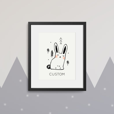 *PREORDER* Little Bunny Custom Kids Art Print