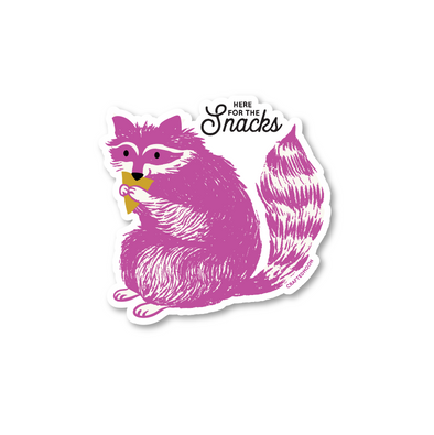 Snacks Raccoon Sticker