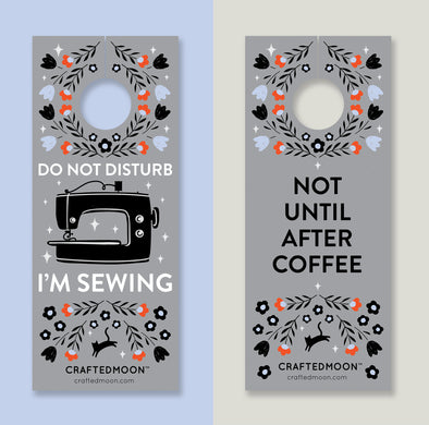 Sewing Room/Coffee Pack of 2 door hangers