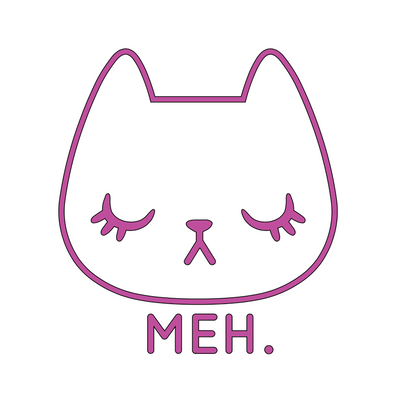 Meh Cat SVG File