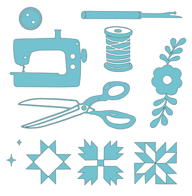 Sewing Set SVG File