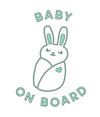 Bunny Baby on Board Decal SVG File