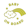 Cloud Baby on Board Decal SVG File