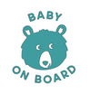 Teddy Baby on Board Decal SVG File